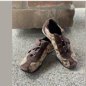 "COACH ""Kyrie"" Jacquard Monogram Sneaker Shoes 5.5"